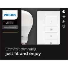 Philips Hue White Kit de inicio que incluye 1 bombilla LED casquillo gordo E27 y mando regulador
