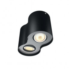 Philips Hue White ambiance Foco doble negro LED Pillar