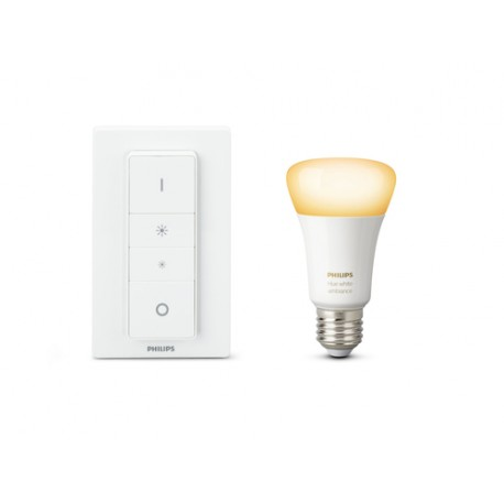 Philips Hue White ambiance Kit de inicio que incluye 1 bombilla LED casquillo gordo E27 y mando regulador
