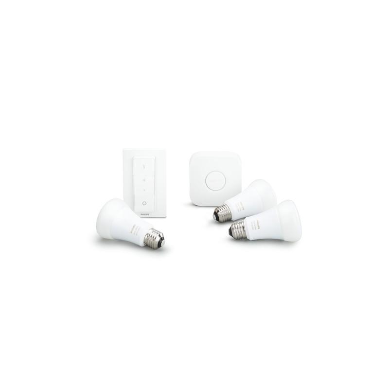 philips hue white and color ambiance kit de inicio que incluye 3 bo. Black Bedroom Furniture Sets. Home Design Ideas