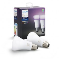 Philips Hue White and color ambiance Pack de dos bombillas de casquillo gordo E27