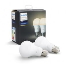 Philips Hue White Pack de dos bombillas de casquillo gordo E27
