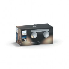 Philips Hue White ambiance Foco doble LED blanco Buckram, casquillo GU10