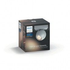 Philips Hue White ambiance Foco doble LED blanco Buckram, casquillo GU10