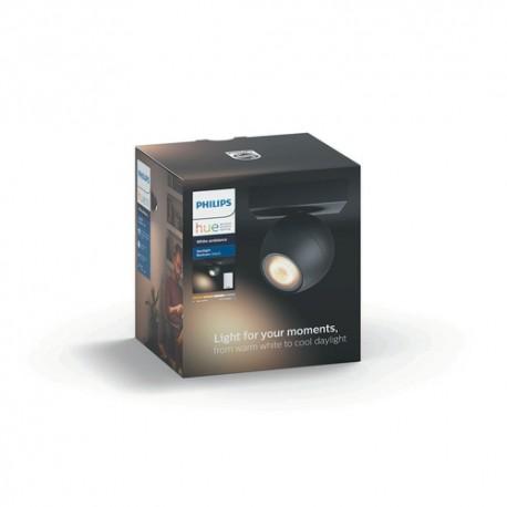 Philips Hue White ambiance Foco LED negro Buckram, casquillo GU10