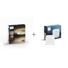 Philips Hue White ambiance Plafón gris metalizado LED Being +Bridge