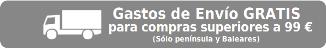 Envío gratis para pedidos superiores a 99 €. Válido solo para península y Baleares.